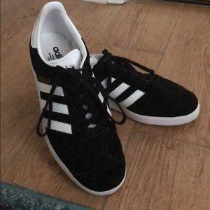 Black Suede Adidas Gazelle